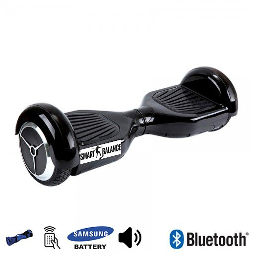Hoverboard, Smart Balance, 350W x 2, Negru, Bluetooth