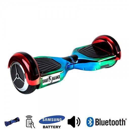 Hoverboard,Smart Balance, 350W x 2, Albastru/Verde/Rosu, Bluetooth