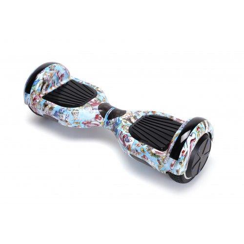 Hoverboard, Smart Balance, 350W X 2 Albastru/Alb/Rosu, Bluetooth