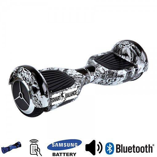 Hoverboard, Smart Balance, 350W X 2 Alb/Negru, Bluetooth