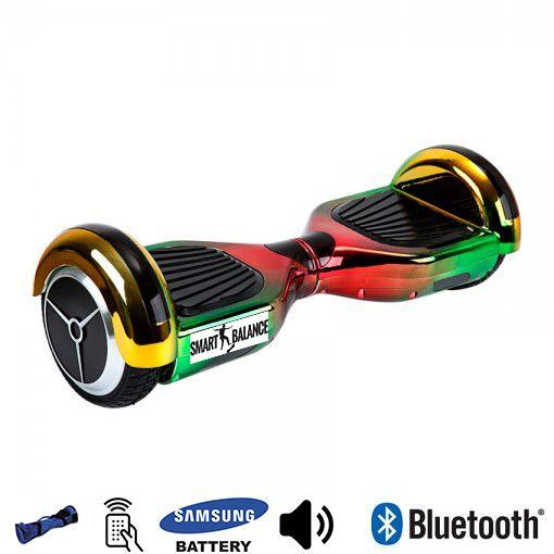 Hoverboard, Smart Balance, 350W x 2, Rosu/Verde/Galben, Bluetooth