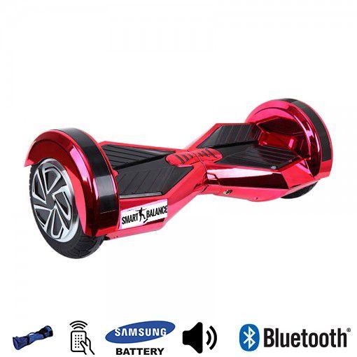 Hoverboard, Smart Balance, 350W x 2, Rosu metalizat, Bluetooth