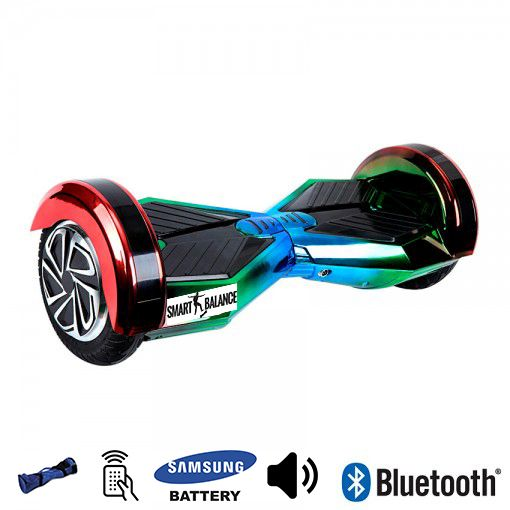 Hoverboard, Smart Balance, 350W x 2, Albastru/Verde/Rosu, Bluetooth