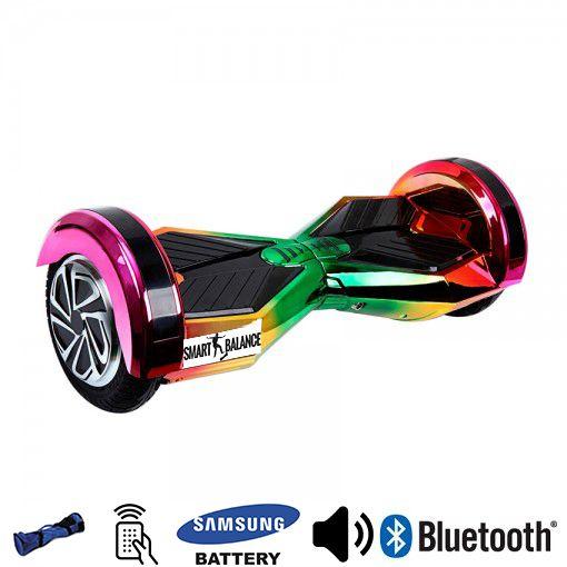 Hoverboard, Smart Balance, 350W x 2, Roz/Verde/Galben, Bluetooth