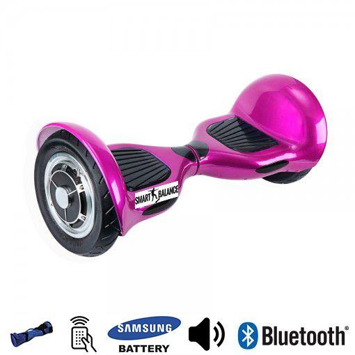 Hoverboard, Smart Balance, 350W x 2, Roz Metalizat, Bluetooth