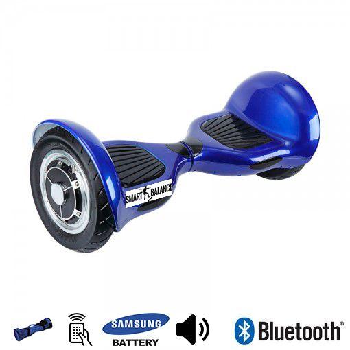 Hoverboard, Smart Balance, 350W x 2, Albastru, Bluetooth