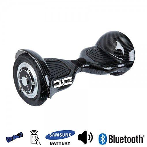 Hoverboard, Smart Balance, 350W x 2, Negru metalizat, Bluetooth