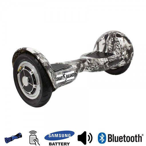 Hoverboard, Smart Balance, 350W x 2, Alb/Negrul, Bluetooth