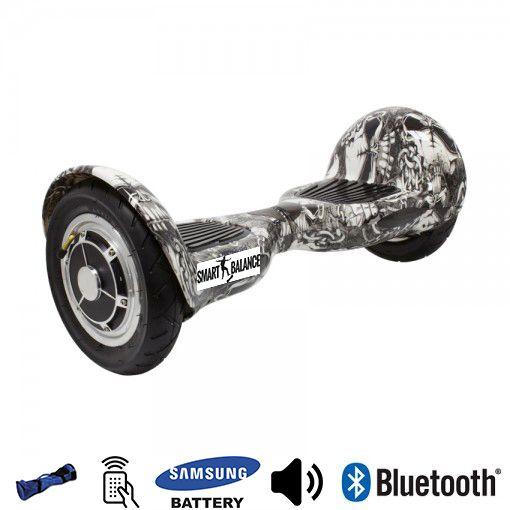 Hoverboard, Smart Balance, 350W x 2, Alb/Negrul, Bluetooth