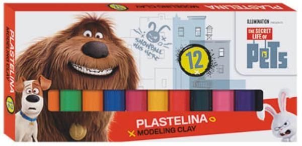 Plastilina,12 culori,Pets