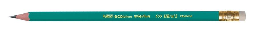 Creion grafit Bic Eco Evolution 655,cu radiera
