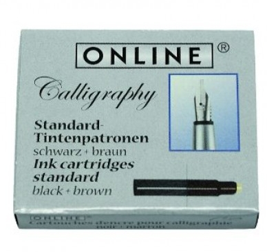 Patroane Online,stilou caligrafie,12buc,negru+maro