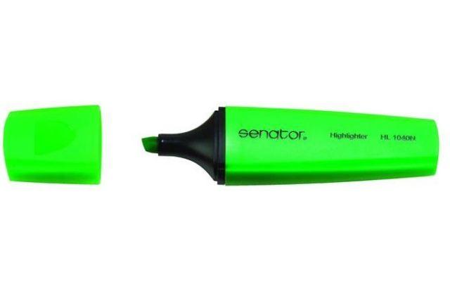 Textmarker Senator,verde fluorescent