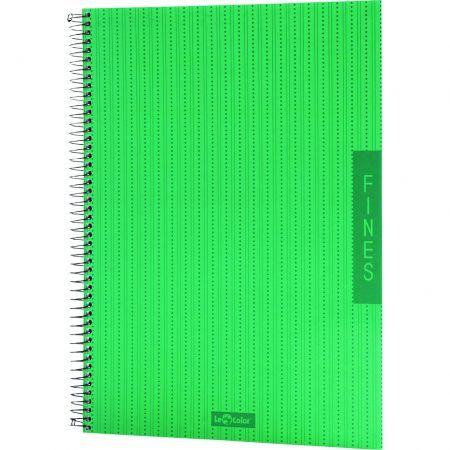 Caiet cu spira,A4,100f,Lecolor Fines,verde