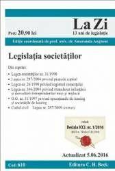 LEGISLATIA SOCIETATILOR LA ZI COD 610 (ACT 05.06.2016)