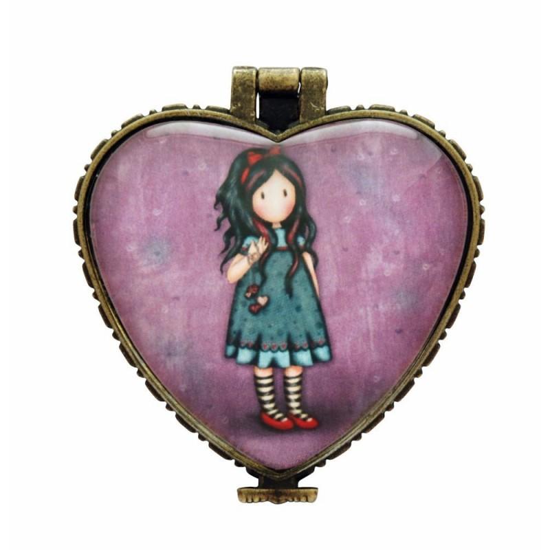 Casete bijuterii 4.5x4cm,ceramica,Pulling On Your Heart Stri