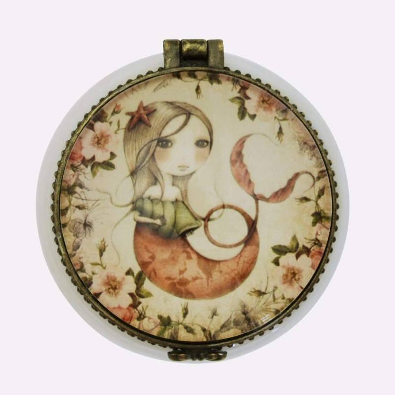 Casete bijuterii 5x5x3cm,ceramica,Mergirl