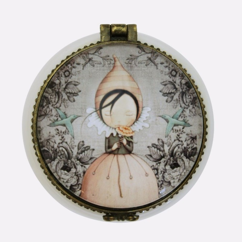 Casete bijuterii 5x5x3cm,ceramica,Pursuit of Happiness