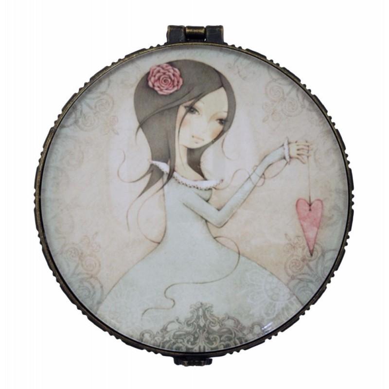 Casete bijuterii 8x8x3cm,ceramica,All For Love