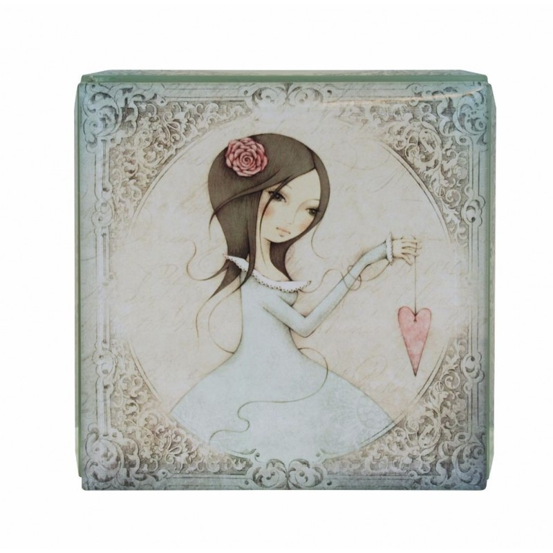 Casete bijuterii 10x10cm,sticla,All For Love