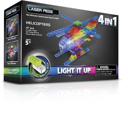 Laser pegs,Elicopter,4in1,400pcs