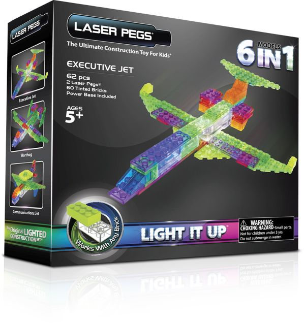 Laser pegs,Avion,6in1,140pcs