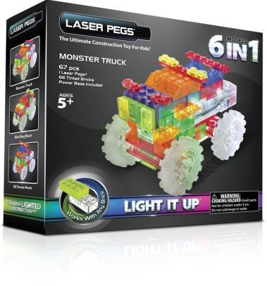 Laser pegs,Monster truck,6in1,110pcs