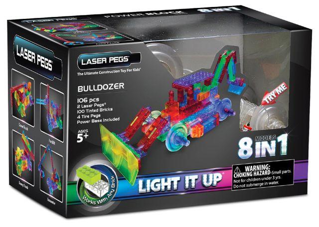 Laser pegs,Buldozer,8in1,1420pcs