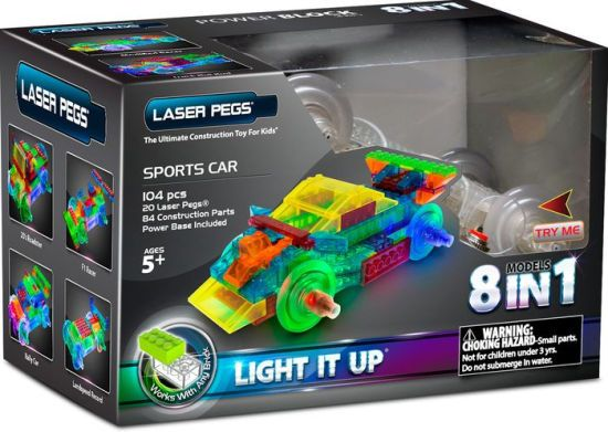 Laser pegs,Masina sport,8in1,1410pcs