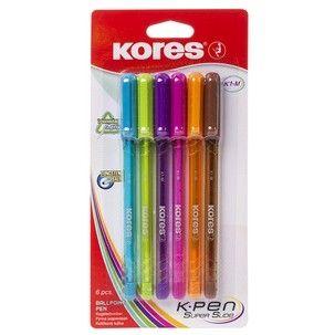 Pix Kores K1,6 culori/blister,M