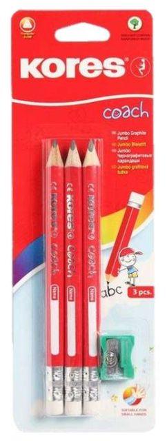 Creion grafit Grafitos Coach Jumbo,3buc/set