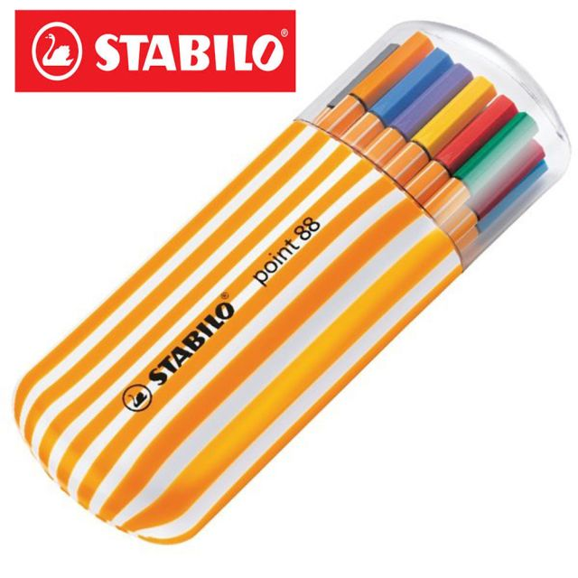 Liner Stabilo Point 88 Zebrui,oval,0.4mm,15+5buc/set