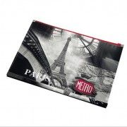 Mapa A4,PP,cu fermoar,PantaPlast,Paris