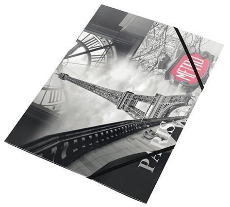 Mapa A4,PP,cu elastic,PantaPlast,Paris
