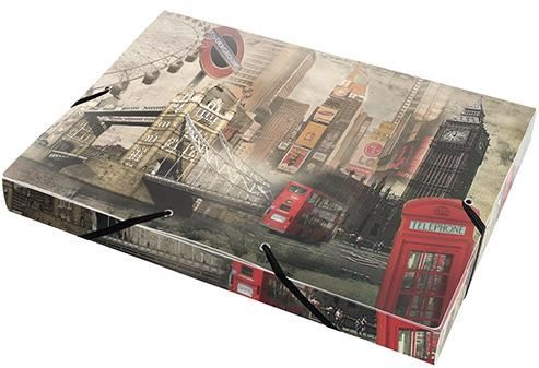 Mapa A4,PP,XL,cu elastic,PantaPlast,Londra