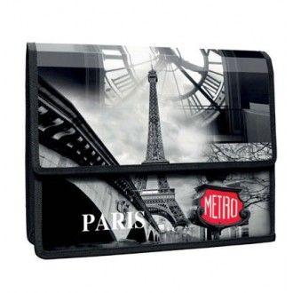 Mapa A4,PP,cu burduf,PantaPlast,Paris