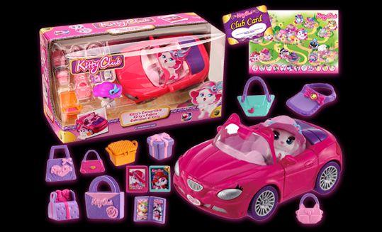 Figurina kitty club,masina decapotabila,set