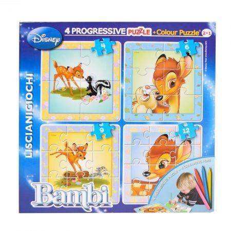 Puzzle progresiv,Bambi,Color plus