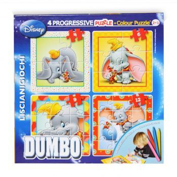 Puzzle progresiv,Dumbo,Color plus