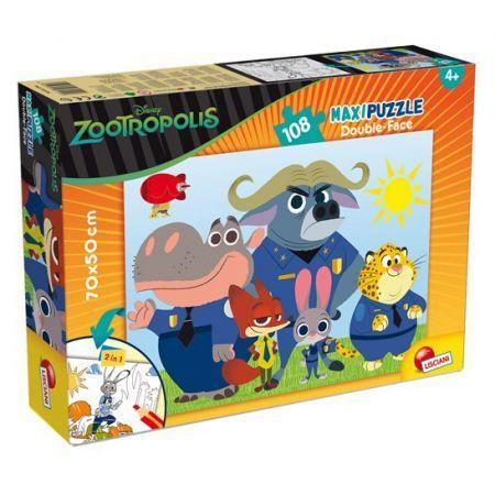 Puzzle cu doua fete,Zootropolis,108pcs