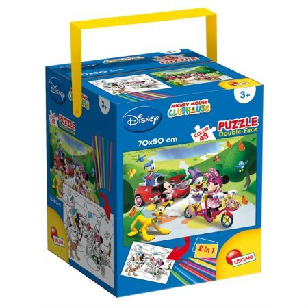 Puzzle in cutie,Mickey,48pcs+6carioci