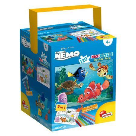 Puzzle in cutie,Finding Nemo,120pcs+6carioci