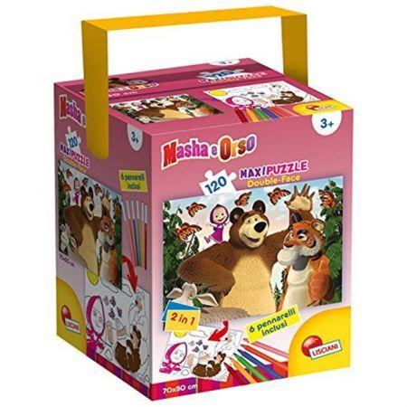 Puzzle in cutie,Masha&the Bear,120pcs+6carioci