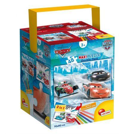 Puzzle in cutie,Cars,48pcs+6carioci