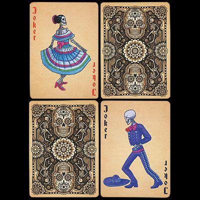 Carti de joc-Dia de los Muertos Painted Marfuri