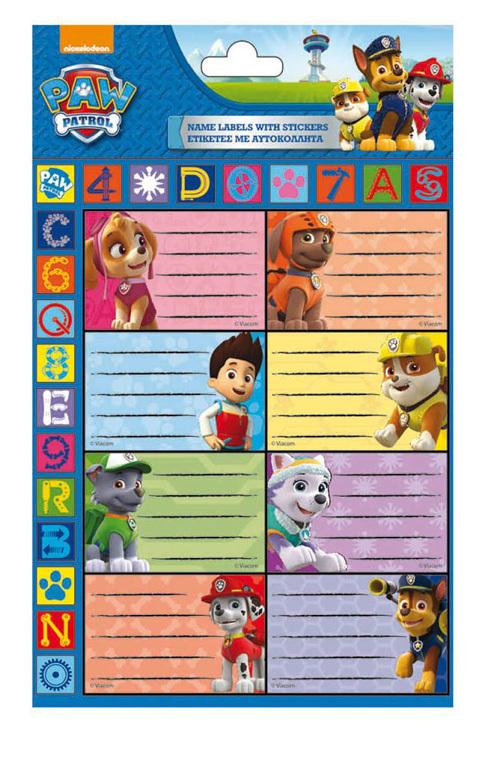 Etichete scolare,Paw Patrol