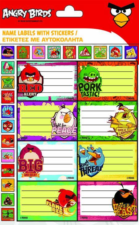 Etichete scolare,Angry Birds