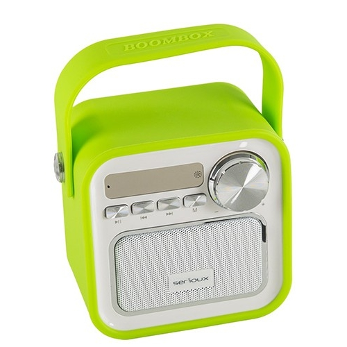 Boxa bluetooth Serioux, portabila, Joy, 5W, verde