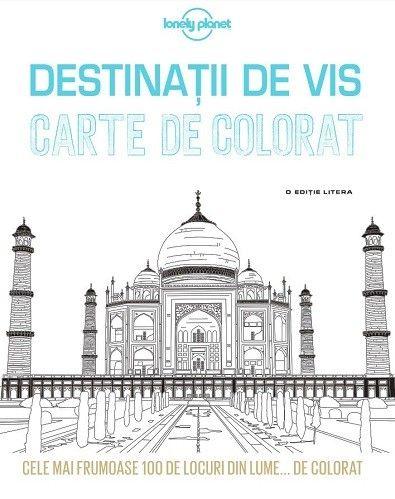 DESTINATII DE VIS. CARTE DE COLORAT