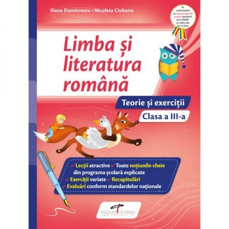 LIMBA SI LITERATURA ROMANA CAIET CL III A.TEORIE SI EXERCITII